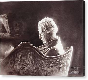 Yeats At The Fire Canvas Print by Colleen Quinn