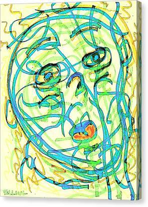 Yelling Canvas Print by UrbanHippie BrownieCat