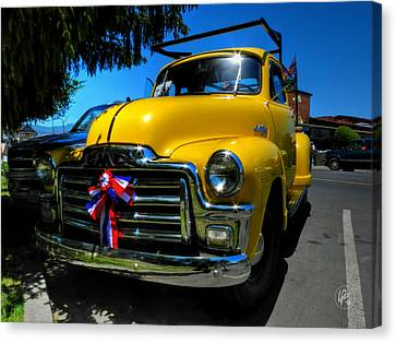 Yellow '54 Gmc Pickup Canvas Print by Lance Vaughn