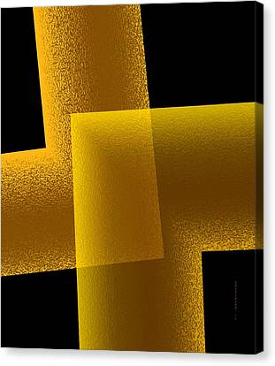 Yellow And Black Art  Canvas Print by Mario Perez