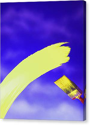 Yellow And Blue Canvas Print by Steven Huszar