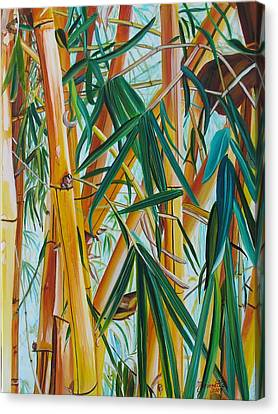Yellow Bamboo Canvas Print by Marionette Taboniar