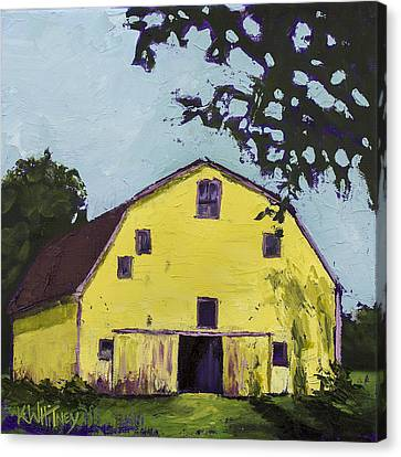 Yellow Barn Canvas Print by Kristin Whitney