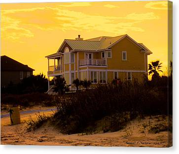 Yellow Beauty At Isle Of Palms Canvas Print by Kendall Kessler