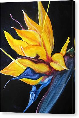 Canvas Print featuring the painting Yellow Bird by Lil Taylor