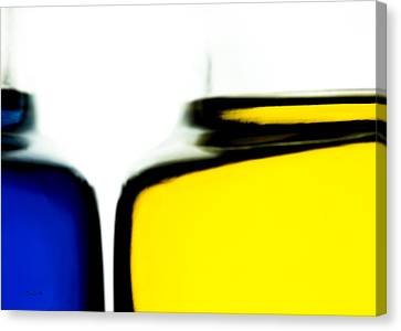 Yellow Blue Canvas Print by Bob Orsillo