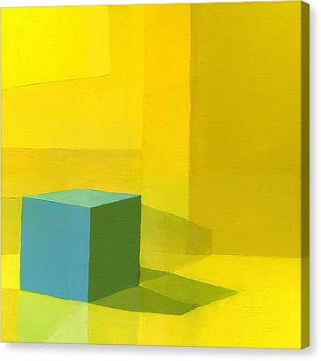 Yellow  Blue  Canvas Print by Daniel Cacouault