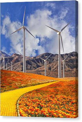 Yellow Brick Road Palm Springs Canvas Print by William Dey