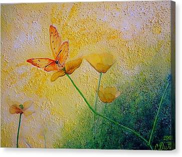 Yellow Butterfly Canvas Print by Svetla Dimitrova