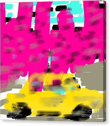 Yellow Cab Big City Canvas Print by James Eye