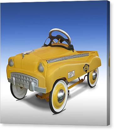 Yellow Cab Peddle Car Canvas Print by Mike McGlothlen