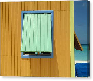 Yellow Cabin Canvas Print by Randall Weidner