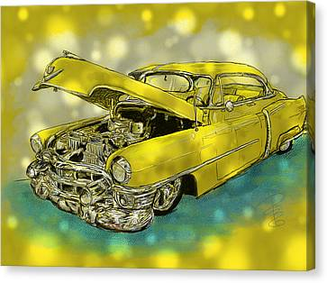 Yellow Cad Canvas Print
