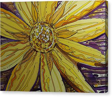 Yellow Chakra Canvas Print by Terry Holliday