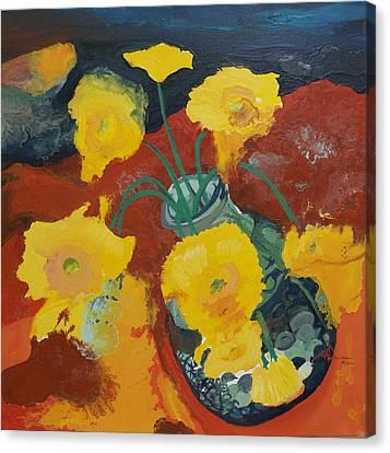 Yellow Daisies Canvas Print by Joseph Demaree