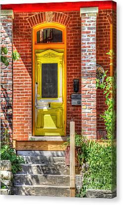 Yellow Door Canvas Print by Liane Wright