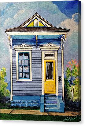 Yellow Door Shotgun  Canvas Print