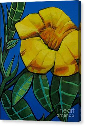 Yellow Elder - Flower Botanical Canvas Print by Grace Liberator
