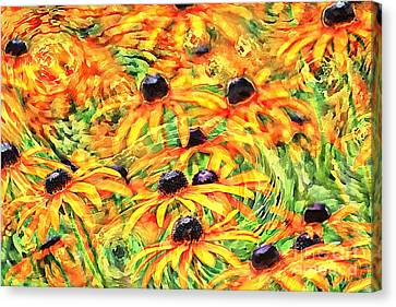 Canvas Print featuring the photograph Dancing Susans by Geraldine DeBoer