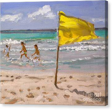 Yellow Flag  Barbados Canvas Print by Andrew Macara