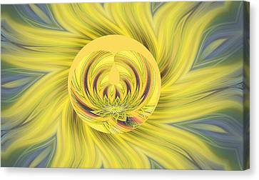 Blending Canvas Print - Yellow Floral Abstract by Linda Phelps