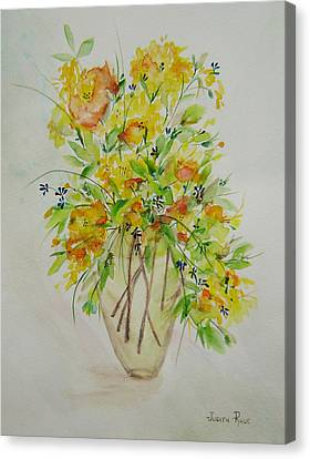 Yellow Flowers Canvas Print by Judith Rhue