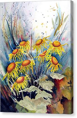 Yellow Flowers Canvas Print by Sam Sidders