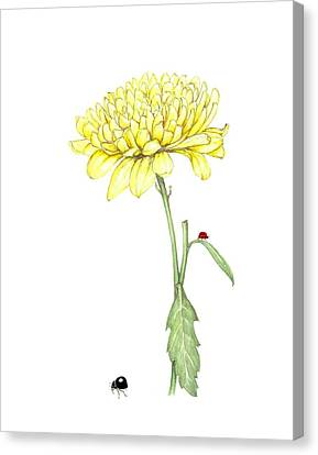 Canvas Print featuring the painting Yellow Fun by Heidi Kriel