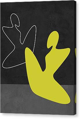 Yellow Girl 2 Canvas Print by Naxart Studio