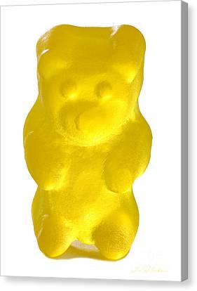 Yellow Gummy Bear Canvas Print by Iris Richardson