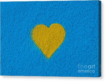 Yellow Heart Canvas Print