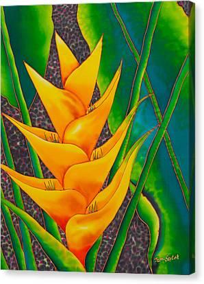 Yellow Heliconia Canvas Print