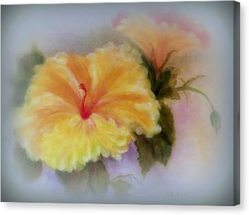 Yellow Hibiscus Canvas Print by Kay Novy