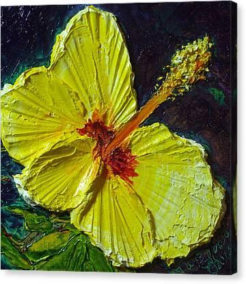 Yellow Hibiscus Canvas Print by Paris Wyatt Llanso