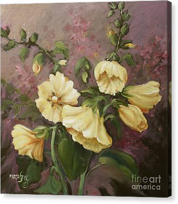Yellow Holyhock Canvas Print