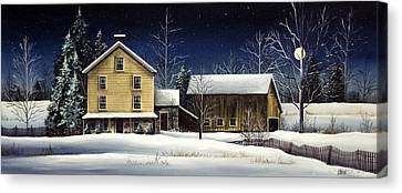 Yellow House Canvas Print by Debbi Wetzel