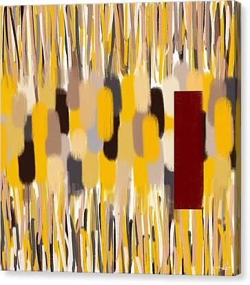 Yellow Intense Canvas Print by Lourry Legarde