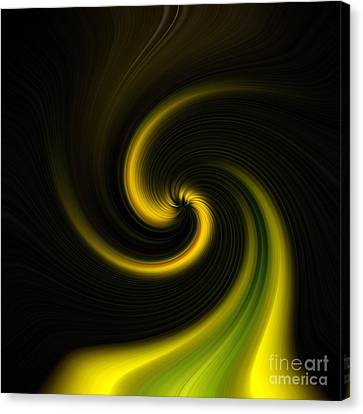 Yellow Into Black Canvas Print