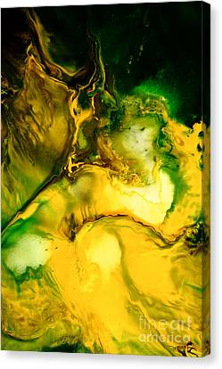 Yellow Jacket Abstract Art Canvas Print by Serg Wiaderny