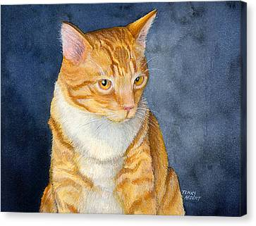 Yellow Kitty Canvas Print