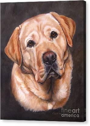 Yellow Labrador Portrait - Dark Yellow Dog Canvas Print
