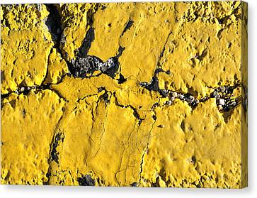 Yellow Line Abstract Canvas Print by Luke Moore