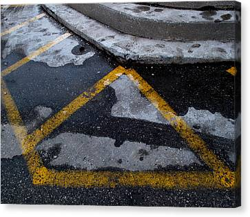 Yellow Lines 2  Canvas Print
