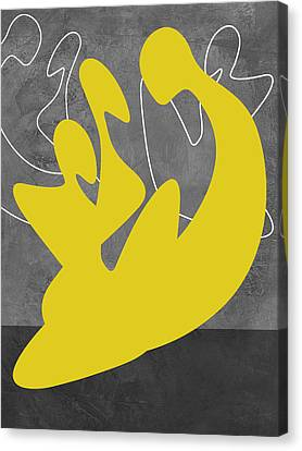 Yellow Lovers Canvas Print by Naxart Studio