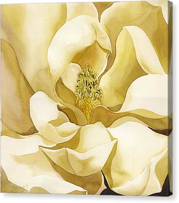 Alfred Ng Art Canvas Print - Yellow Magnolia by Alfred Ng