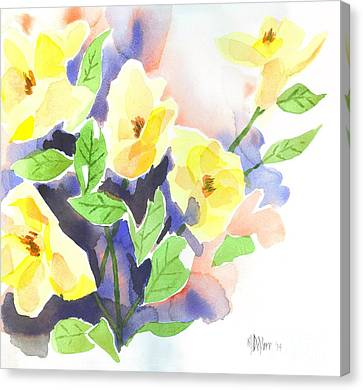 Yellow Magnolias Canvas Print by Kip DeVore