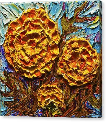 Yellow Marigolds Canvas Print by Paris Wyatt Llanso