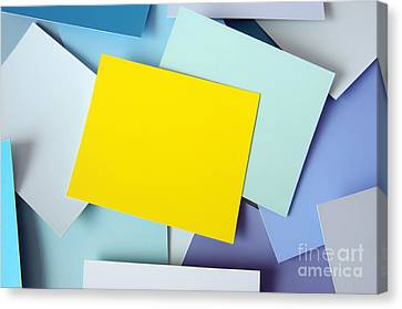 Sticky Note Canvas Print - Yellow Memo by Carlos Caetano