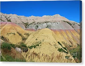 Canvas Print featuring the photograph Yellow Mounds Badlands National Park by Jemmy Archer