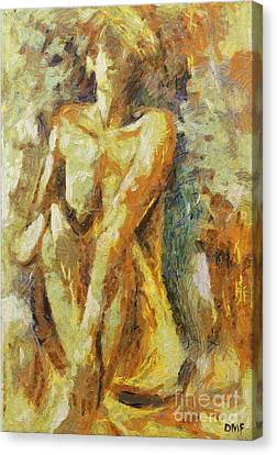 Yellow Nude Canvas Print